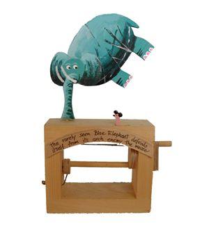 Jonathan Automata Blue Elephant legno assemblato
