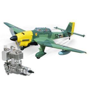 Phoenix Model Stuka .120/20cc + DLE 20 RA Aeromodello riproduzione