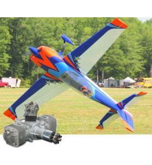 Extreme Flight Extra 300 V2 104 Arancio/Blu ARF - 264 cm + DLE 120 Aeromodello acrobatico