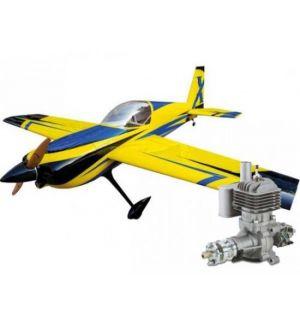 Extreme Flight Slick 580 74 ARF Giallo/Blu - 188 cm + DLE 30 Aeromodello acrobatico