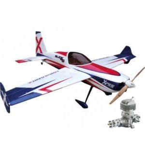 Extreme Flight Slick 580 74 ARF Rosso / Bianco - 187cm + DLE 35 RA Aeromodello acrobatico