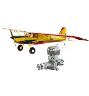 HANGAR 9 Timber 110 30-50cc ARF + DLE 35RA Aeromodello acrobatico