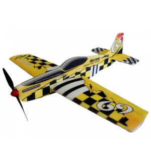 RC Factory Mustang (giallo) / 780 mm Aeromodello acrobatico