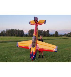 Extreme Flight Extra 300 V2 104 Rosso/Giallo/Blu 264 cm - Aeromodello acrobatico