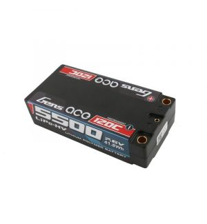 Gens ACE Batteria Lipo 2S 5500mAh 7.6V High Voltage 120C 2S2P Shorty HardCase