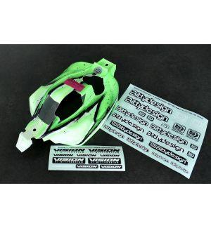 Bittydesign Carrozzeria VISION per Kyosho MP10 Pre-tagliata Colorazione Wave VERDE