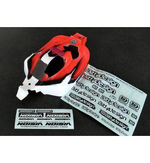 Bittydesign Carrozzeria VISION per Kyosho MP10 Pre-tagliata Colorazione Arrow Rossa