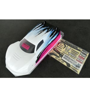 Bittydesign Carrozzeria 1/10 GT VENOM 190mm Colorazione SPEED ROSA