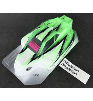 Bittydesign Carrozzeria FORCE per Kyosho Mp9 TKI4 Colorazione Wave VERDE