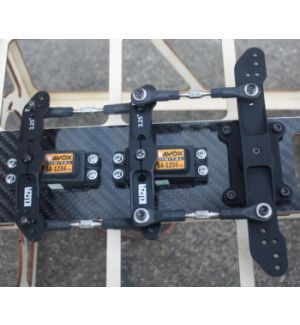 KUZA by Goldwing Kit servo tray JR - 2x per 100-120CC