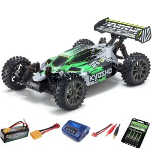 Kyosho Inferno Neo 3.0VE 1:8 RC Brushless EP Readyset - T1 Verde Automodello elettrico SUPER COMBO 4S