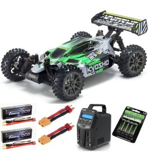 Kyosho Inferno Neo 3.0VE 1:8 RC Brushless EP Readyset - T1 Verde Automodello elettrico SUPER COMBO