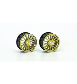 Kyosho Wheel(15-Spoke/Gold/24mm/2Pcs) - VZH003G