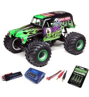 Losi Solid Axle Monster Truck RTR Grave Digger SUPER COMBO 2S