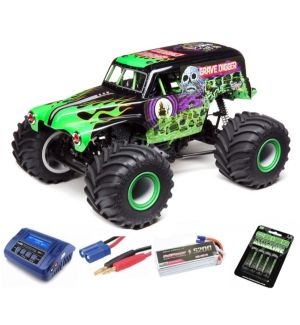 Losi Solid Axle Monster Truck RTR Grave Digger SUPER COMBO 3S FP