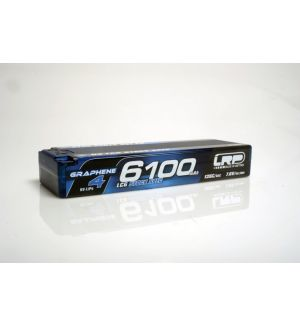 LRP Batteria Lipo GRAPHENE-4 2S 6100mAh 7.6V High Voltage 65/135C HardCase