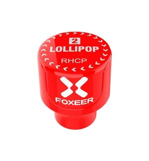 Foxeer Antenna Lollipop V2 Stubby 5.8ghz RHCP SMA Red