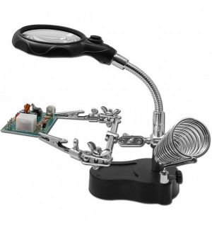 Jonathan MBL THIRD HAND WITH MAGNIFYING GLASS AND LED LIGHTING