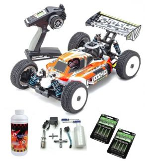 Kyosho Inferno MP9 TKI4 V2 Readyset Automodello a scoppio SUPER COMBO