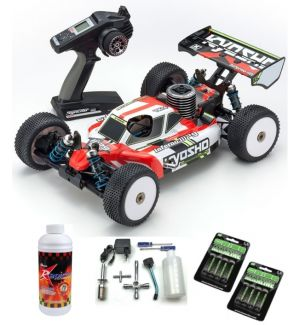 Kyosho Inferno MP9 TKI4 Readyset T1 Automodello a scoppio SUPER COMBO