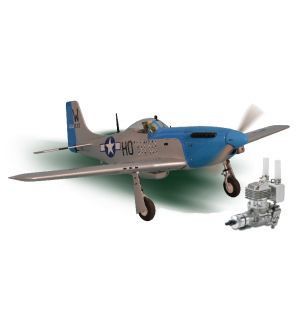 Phoenix Model P51 Mustang .61-91/15cc + carrelli retrattili elettrici + DLE 20 RA Aeromodello riproduzione