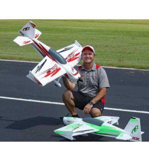 Premier Aircraft by Quique Somenzini QQ Extra 300 V2 RED SUPER PNP + Gyro AURA 8 + batterie Aeromodello acrobatico
