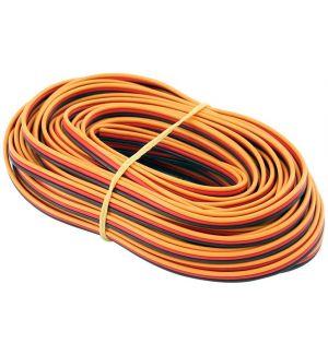 Robbe Cavo servi piatto 22awg-0,35mmq (marrone/rosso/arancio), 10 mt