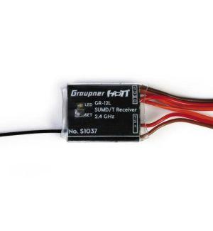 Graupner SJ GR-12L HoTT 2.4 GHz SUMD +T Ricevente 8CH