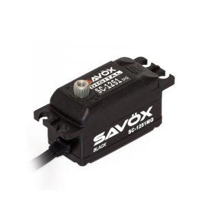 SAVOX SC-1251MG BLACK - 9,0 (6,0V)-0,09 (6,0V) Servocomando ribassato