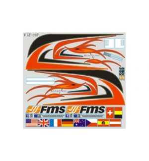 FMS Decals Red Dragonfly