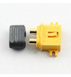 Robbe ROBBE XT-60 GOLD PLUG CONNECTORS MALE 5PCS WITH PIN COVERS WITH MOUNTING BRACKET