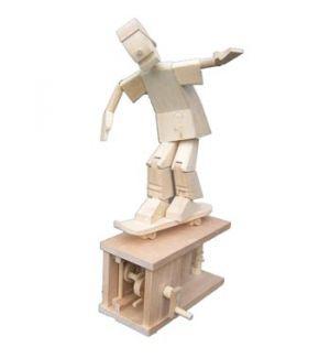 Jonathan Automata Skateboarder legno da montare