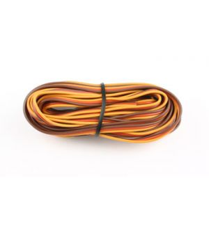 FullPower Flat PVC wire 26awg(brown/red/orange), 5 mt