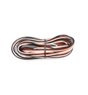 FullPower Flat PVC wire 26awg(black/red/white), 5 mt
