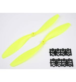 aXes coppia eliche 8x4,5 (standard+inversa) giallo