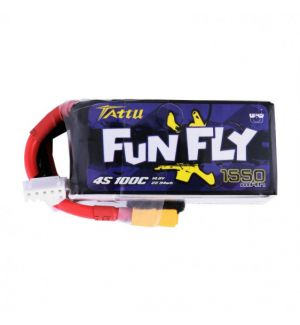 Tattu by Gens ACE Batteria LiPo Funfly 4S 1550mAh 100C