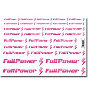 FullPower Foglio decals 150x210 mm 31 loghi FullPower