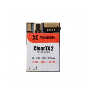 Foxeer Clear TX video 2 (Pit/25/200/500/800mw switchable) con Smart Audio MMCX connector
