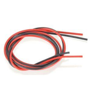 Robbe cavo siliconico rosso-nero 1,4 mm² AWG16 (1+1 mt)