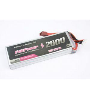 FullPower Batteria Lipo 2S 2600 mAh 35C Silver V2 - DEANS