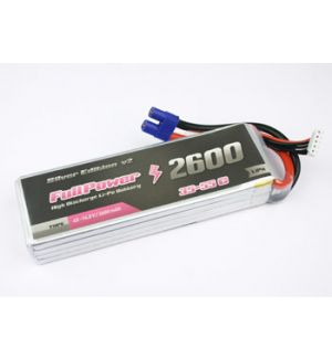 FullPower Batteria Lipo 4S 2600 mAh 35C Silver V2 - EC3