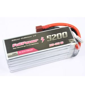 FullPower Batteria Lipo 6S 5200 mAh 35C Silver V2 - DEANS