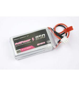 FullPower Batteria Lipo 3S 850 mAh 35C Silver V2 - BEC