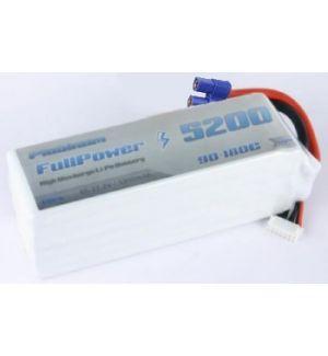 FullPower Batteria Lipo 6S 5200 mAh 90C PLATINUM - EC5