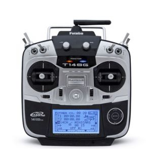 Futaba 14SG 2,4GHZ HX MODE 2 + RXR7008SB + 2 RX FrSKY TFR6 Radiocomando