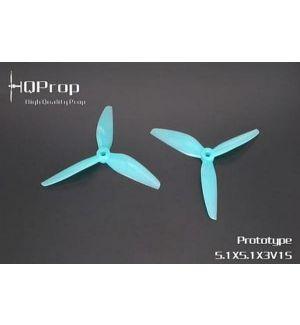 HQProp Elica tripala DP FPV RACE 5,1x5,1x3 Light Blue - policarbonato - (2CW+2CCW)