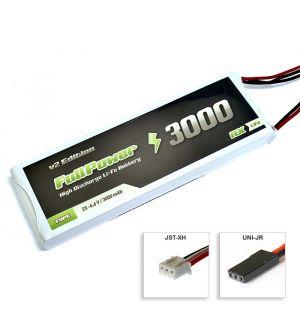 FullPower Batteria RX LiFe 2S 3000 mAh 35C V2 - JR