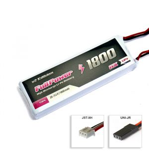 FullPower Batteria RX Lipo 2S 1800 mAh 35C V2 - JR