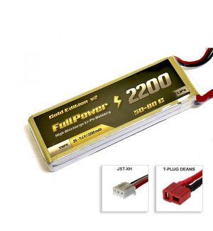 FullPower Batteria Lipo 2S 2200 mAh 50C Gold V2 - DEANS