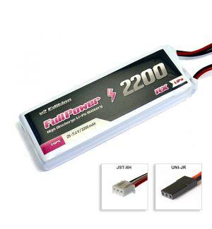 FullPower Batteria RX Lipo 2S 2200 mAh 35C V2 - JR